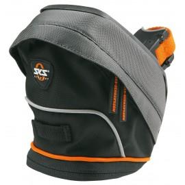 Sks сумка под седло tour bag xl, обьём: 2 л, крепление быстросьёмное, чёрно-серая