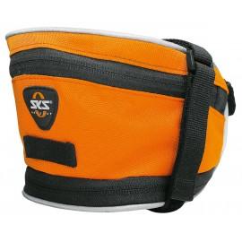 Sks сумка под седло base bag xl, обьём: 1,4 л, крепление с помощью ремешка, оранжевая