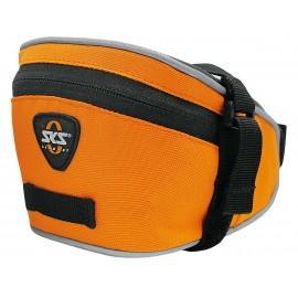 Sks сумка под седло base bag m, обьём: 0,9 л, крепление с помощью ремешка, оранжевая