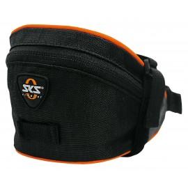 Sks сумка под седло base bag m, обьём: 0,9 л, крепление с помощью ремешка, чёрная
