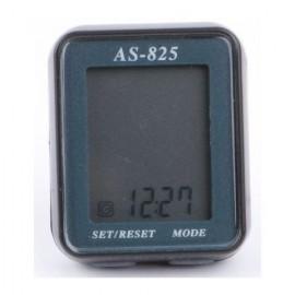 Велокомпьютер as-825 проводной. 11 функций: скорость /режим сканирования /время /пройденное расстояние/одометр /максимальная скорость /средняя скорость /часы /каденс /счётчик калорий /секундомер. цвет: чёрный