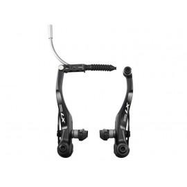 Shimano тормоз v-brake br-t670 deore lx задний, черный, картриджные колодки s70c, болты 25мм, без уп.