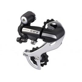 Shimano переключатель задний rd-m360-sgs acera, 7/8 скоростей, ёмкость 43 зуба, серебристый