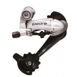 Shimano переключатель задний rd-m593-sgs deore, 10 скоростей, обычная тяга, низкий профиль shadow, серебристый, без уп.