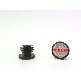 Velo заглушки руля vlp-37, d:20,3мм с отражателем и логотипом, пара