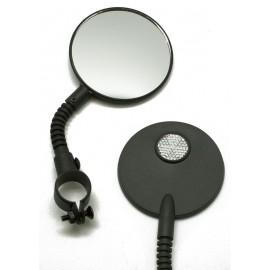 """Зеркало cl-129, 3"""", круглое на гибкой ножке с белым катафотом"""