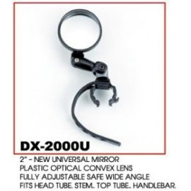 """Зеркало dx-2002u 3"""" с регулировкой в различных плоскостях, универсальное крепление на руль или вынос, в торг.уп."""