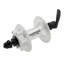 SHIMANO Втулка передняя HB-M475 ALIVIO, 32Н, под диск (6 болтов), OLD:100мм, ось:108мм, серебристая, б/уп.
