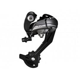 SHIMANO Переключатель задний RD-M370-L-SGS ALTUS, 9 скоростей, ёмкость 45 зубов, чёрный, без уп