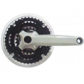CYCLONE Шатуны SP5-TS340P17 под квадрат 24/34/42Тх170мм, сталь/пластик, серые, с прозрачной защитой