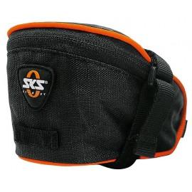Sks сумка под седло base bag s, обьём: 0,5 л, крепление с помощью ремешка, чёрная