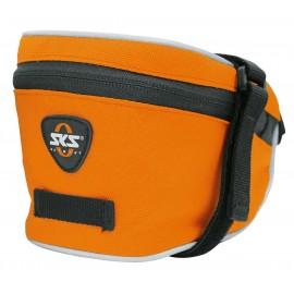 Sks сумка под седло base bag l, обьём: 1,0 л, крепление с помощью ремешка, оранжевая