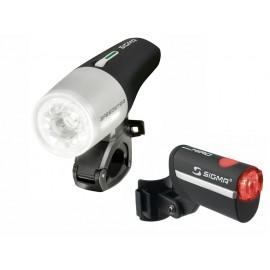 Sigma комплект освещения speedster/hiro k-set, с зарядкой и акк.