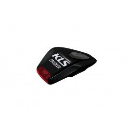 Kellys фонарь диодный задний crooker, 2 красных светодиода, 2 режима, крепление на липучке, батарейки в компл., чёрный