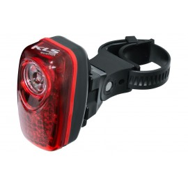 Kellys фонарь задний rippy, 1 диод 0,5вт, 2 супер-ярких светодиода, батарейки в компл.