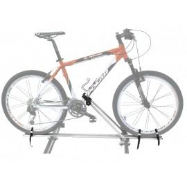 Peruzzo автобагажник на крышу imola, алюминий/сталь, для 1-го в-да, фиксация велосипеда: колёса установ. в фиксаторы, за нижнюю трубу рамы, max d: 60 мм - круглая, 60х100 мм - овальная, зажим-замок под ключ, установ. на дуги max. 60 мм, серое защитное пок