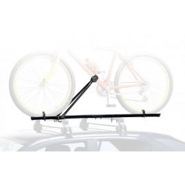 Peruzzo автобагажник на крышу lucky two tuv, сталь, для 1 в-да весом до 15кг, с рамой макс. d:50 мм, шириной колеса до 55мм, на дуги max. 50 мм, с замком, цвет: чёрный, упаковка-термоплёнка