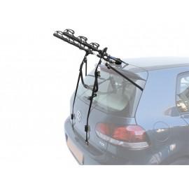 Peruzzo автобагажник на заднюю дверь cruiser delux, сталь, труба d:25 мм, для 3 в-дов весом до 15кг, фиксация велосипеда за верхнюю трубу рамы (max d:60 мм), цвет: чёрный, упаковка-термоплёнка