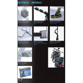Peruzzo автобагажник на заднюю дверь new hi-bike, сталь, труба d:25 мм, для 3 в-дов весом до 15кг, фиксация велосипеда: за верхнюю трубу рамы (max d:60 мм), цвет: чёрный, упаковка-картонная коробка