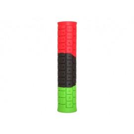 PROPALM Грипсы Pro-708-S3, 143мм, красный-чёрный-зелёный, с заглушками, с упаковкой