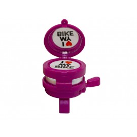 Звонок fy-023-r с зеркальцем. d:60м. материал: алюм./пластик. цвет: розовый.