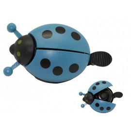 Звонок fy-029-b. форма: божья коровка. материал: алюм./пластик. цвет: синий.