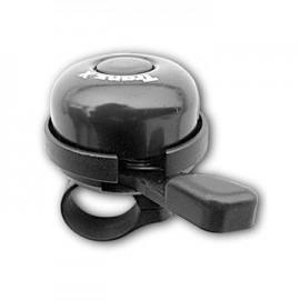 Звонок cd-603, мтериал: алюминиевый купол, пластиковая база. крепление: на руль d:22,2мм. цвет: чёрный.