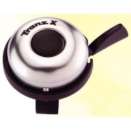 Звонок cd-603, мтериал: алюминиевый купол, пластиковая база. крепление: на руль d:22,2мм. цвет: серебристый.