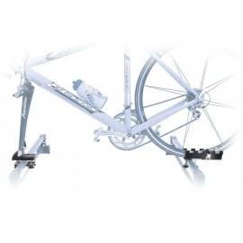 Peruzzo Автобагажник на крышу ROLLE (совместим с диск. торм.), пластик, для 1 в-да весом до 15 кг, шириной колеса до 55мм, фиксация велосипеда за вилку, на дуги до 70 мм, цвет: чёрный, упаковка-картонная коробка