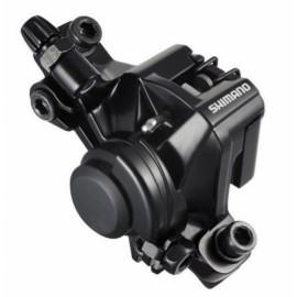 SHIMANO Тормоз дисковый механический BR-M375-L, черный, передний, с адаптером Standart, органические колодки